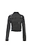 Just Black Frayed Cropped Denim Jacket Thumb 2
