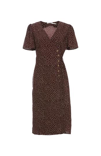 Side Tie Short Sleeve Midi Dress Slide 1