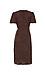 Side Tie Short Sleeve Midi Dress Thumb 2
