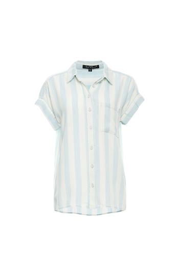 Short Dolman Sleeve Striped Shirt Slide 1