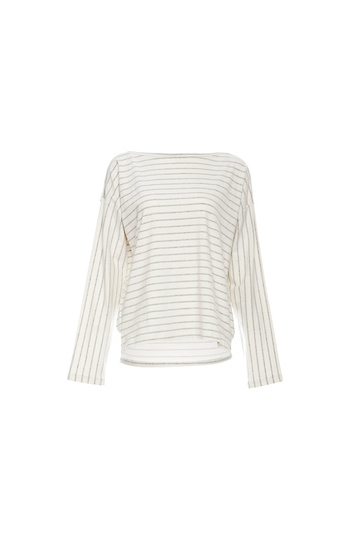 French Connection Striped Long Sleeve Top Slide 1
