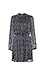 Mock Neck Elastic Waist Long Sleeve Dress Thumb 1