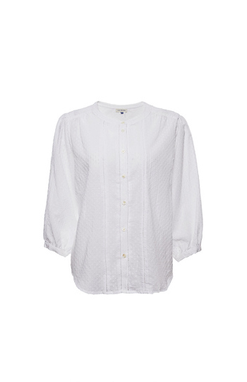 3/4 Sleeve Buttoned Front Crinkle Top Slide 1
