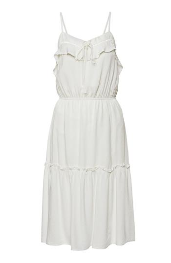 Lace Insert Tiered Midi Dress Slide 1