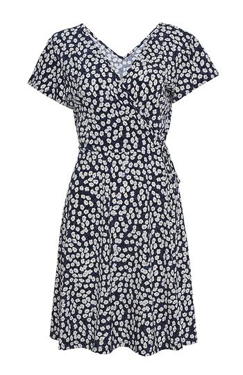 Surplice Short Sleeve Dress Slide 1