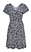 Surplice Short Sleeve Dress Thumb 1