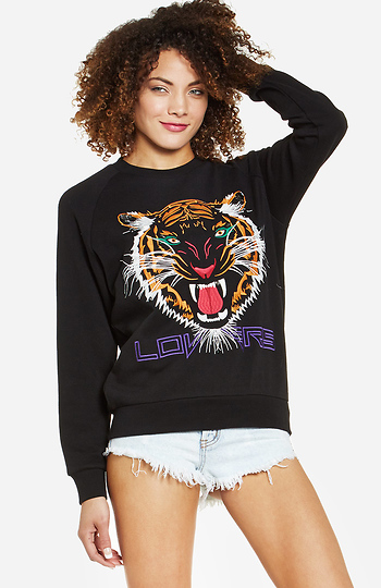 Lovers + Friends Wildcat Laid Back Pullover Slide 1
