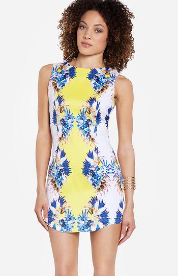 Blaque Label Floral Print Dress Slide 1