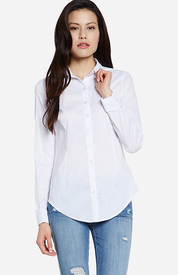Ribbed Button Up Shirt Slide 1