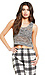 Two Tone Open Knit Crop Top Thumb 1