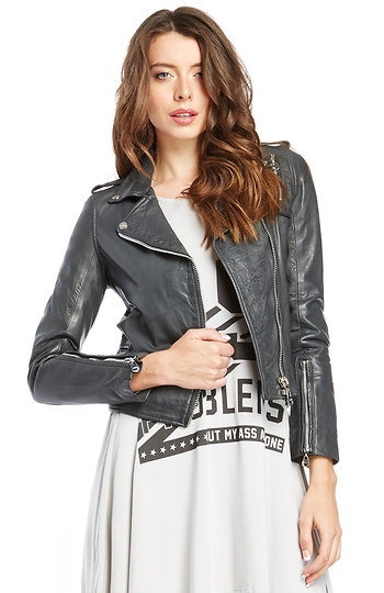 DOMA Leather Moto Jacket Slide 1