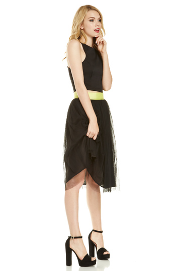 Lucy Paris Layered Tulle Midi Skirt Slide 1