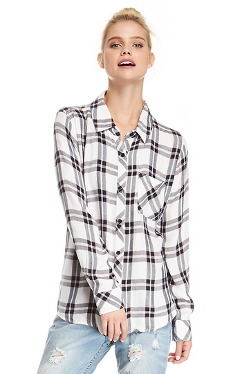 Rails Hunter Button Down Plaid Shirt Slide 1