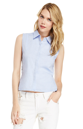 Cotton Cutout Shirt Slide 1