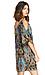 Exotic Print Cold Shoulder Dress Thumb 2