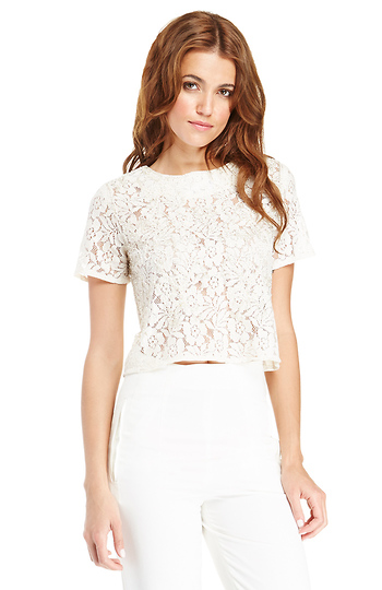 Lace Beaded Top Slide 1