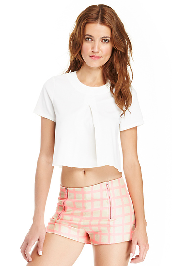 Box Pleated Crop Top Slide 1
