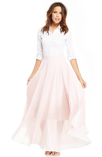 Lucy Paris Chiffon Maxi Skirt Slide 1