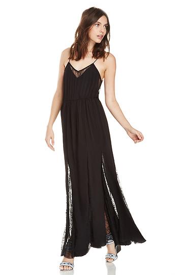 127cd7c075e BARDOT Charlotte Lace Maxi Dress in Black