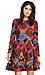 Harlyn Chevron Fit & Flare Dress Thumb 2