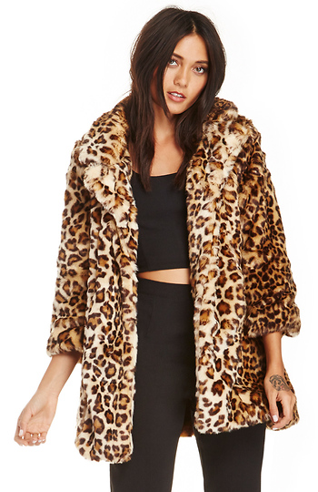 DAILYLOOK Leopard Print Coat Slide 1