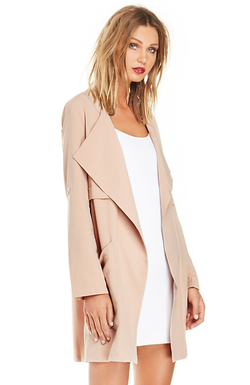 Cameron Cropped Trench Coat Slide 1