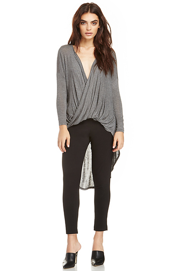 DAILYLOOK Twisted Sister Knit High Low Top Slide 1