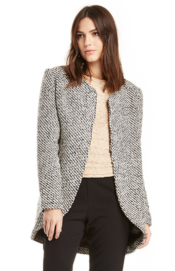 Finders Keepers Careless Love Tweed Coat Slide 1