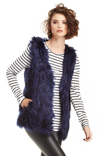 Glamorous Faux Fox Fur Gilet Slide 1