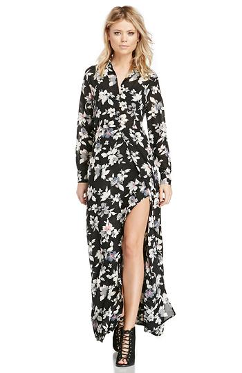 DAILYLOOK Sparrow Floral Maxi Dress Slide 1