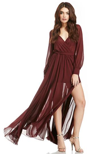 DAILYLOOK Witherspoon Chiffon Maxi Dress Slide 1