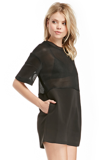 Cameo Acoustic Mesh Tunic Dress Slide 1