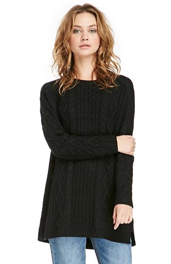 MINKPINK Chalet Girl Cable Sweater Dress Slide 1