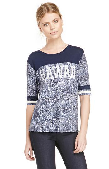 Maison Scotch Colour Block Hawaii T-Shirt Slide 1