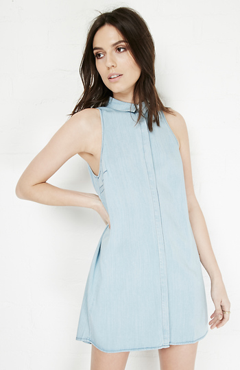 Paula Tencel Blend Shirtdress Slide 1