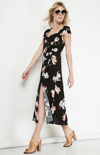 d276b6f911 MINKPINK Moon Flower Midi Dress Slide 3