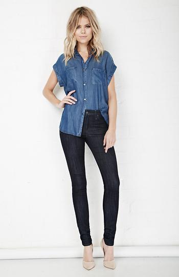 Joe's Jeans Chanelle Mid Rise Skinny Jeans Slide 1