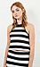 Somedays Lovin Open Air Stripe Halter Top Thumb 1