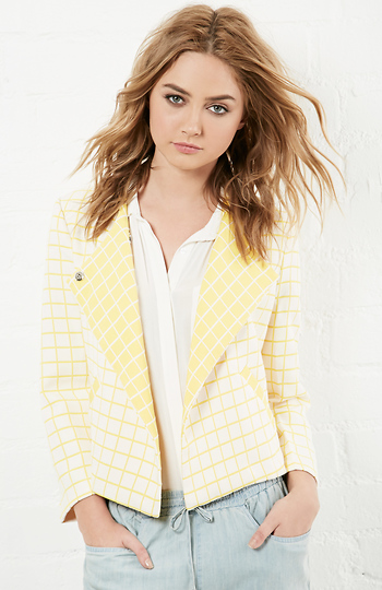 Keep It Grid Printed Jacket Slide 1