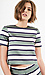 Sunset Sons Striped Short Sleeve Blouse Thumb 1