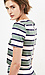 Sunset Sons Striped Short Sleeve Blouse Thumb 2