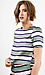 Sunset Sons Striped Short Sleeve Blouse Thumb 3