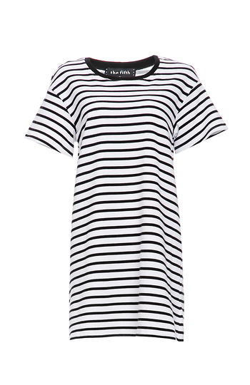 The Fifth Label Building Blocks Striped T-Shirt Dress Slide 1