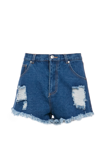 The Fifth Label Go Outside Denim Shorts Slide 1