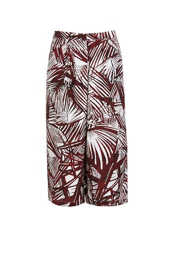 Glamorous Palm Print Culottes Slide 1