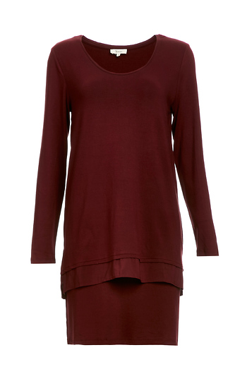 Yerse Layerd Jersey Knit Dress Slide 1