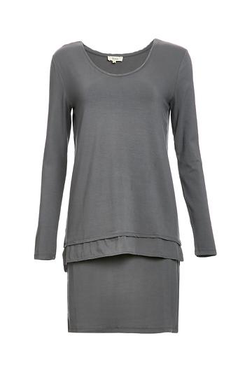 Yerse Layerd Jersey Knit Dress Slide 1