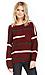 Striped Knit Varsity Sweater Thumb 1