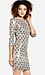 Sequined Feather Shift Dress Thumb 3
