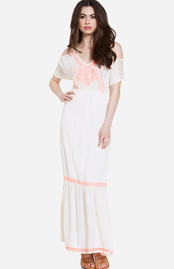 Boho Embroidered Maxi Dress Slide 1